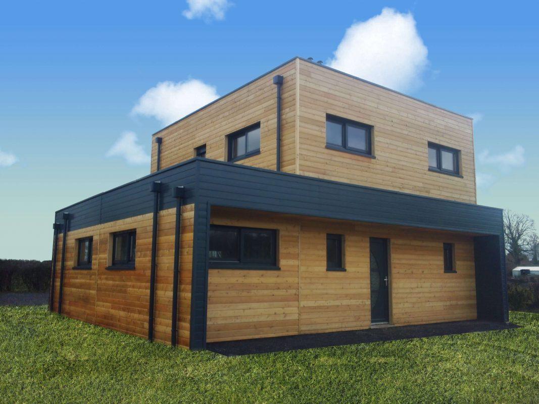 maison ossature bois bardage