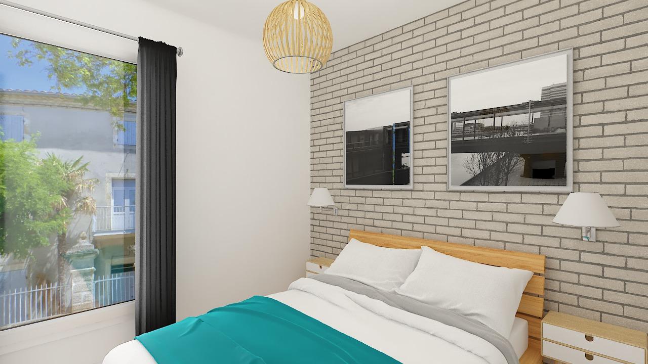 Chambre maison ossature bois Calais