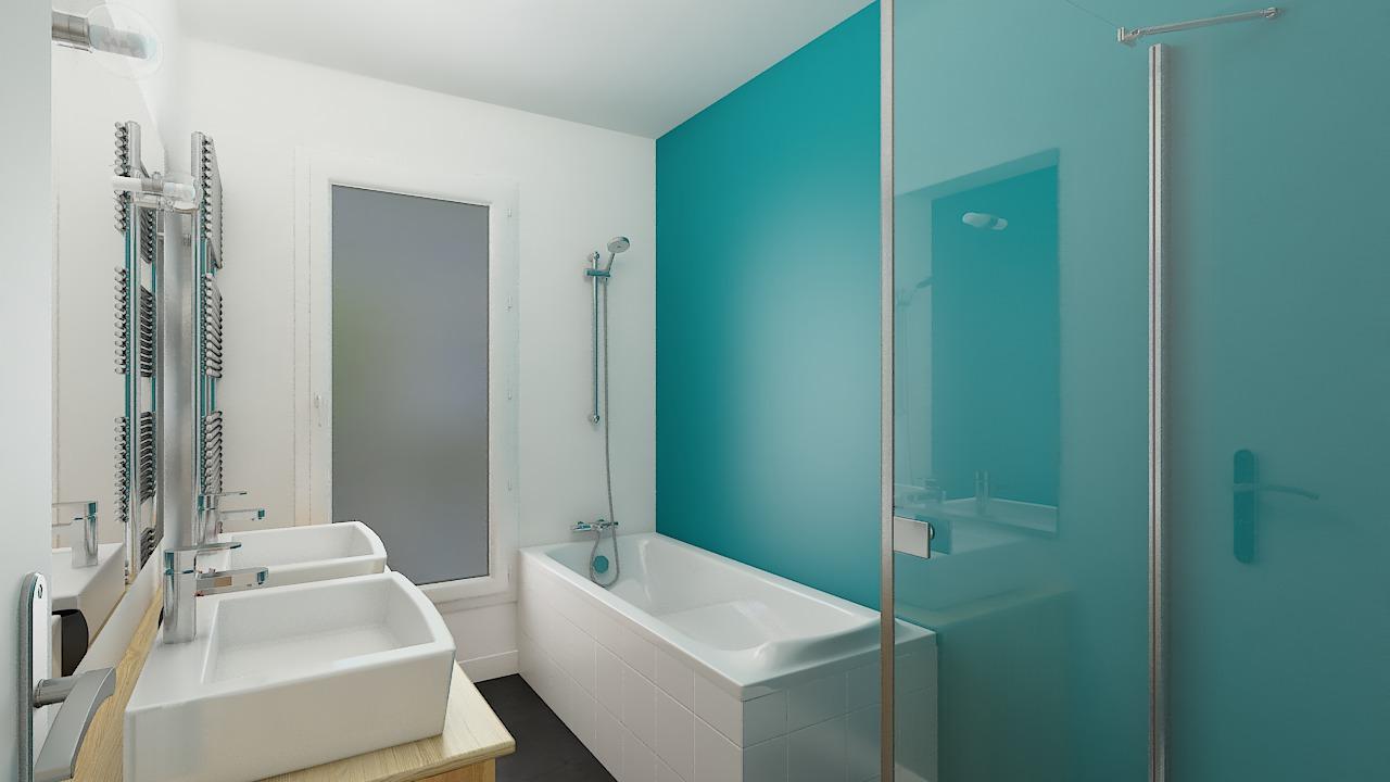 Salle de bain maisons ossature bois Calais