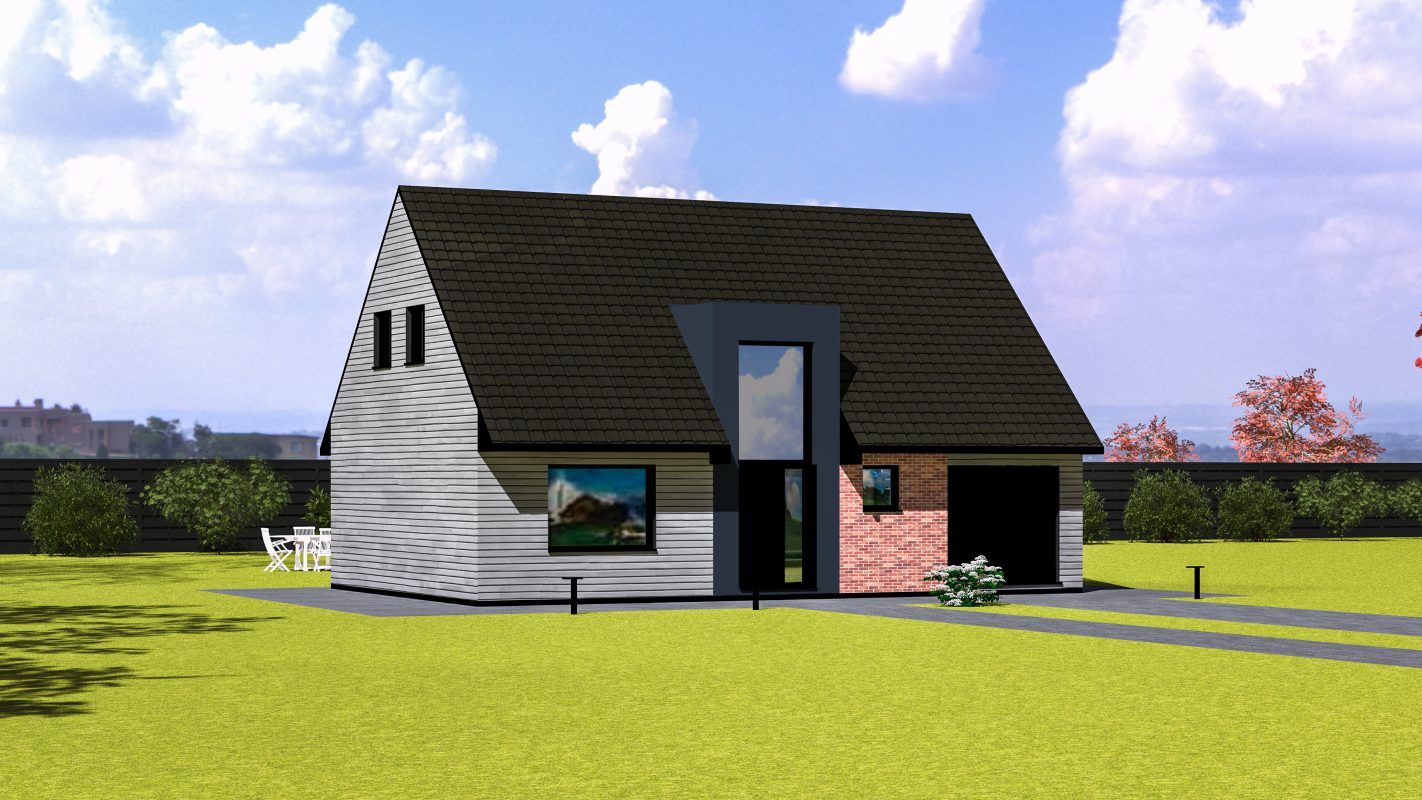 Maison ossature AMSTERDAM vue devant
