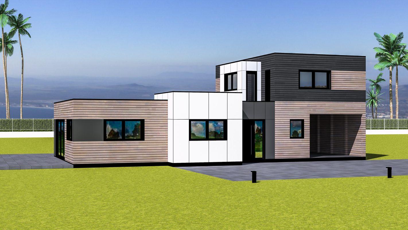 maison ossature bois NEW-YORK vue devant