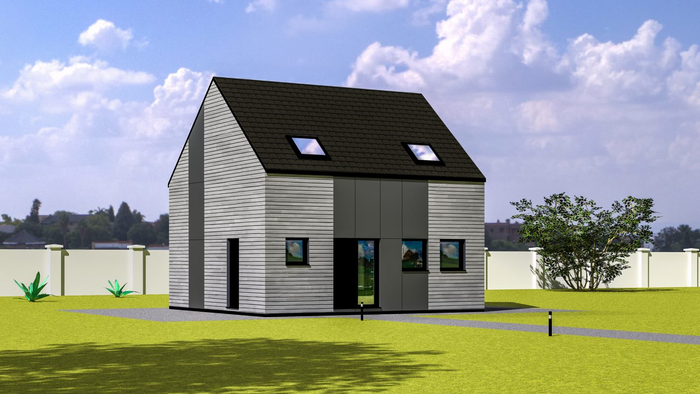 maison osssature bois Atlanta vue devant