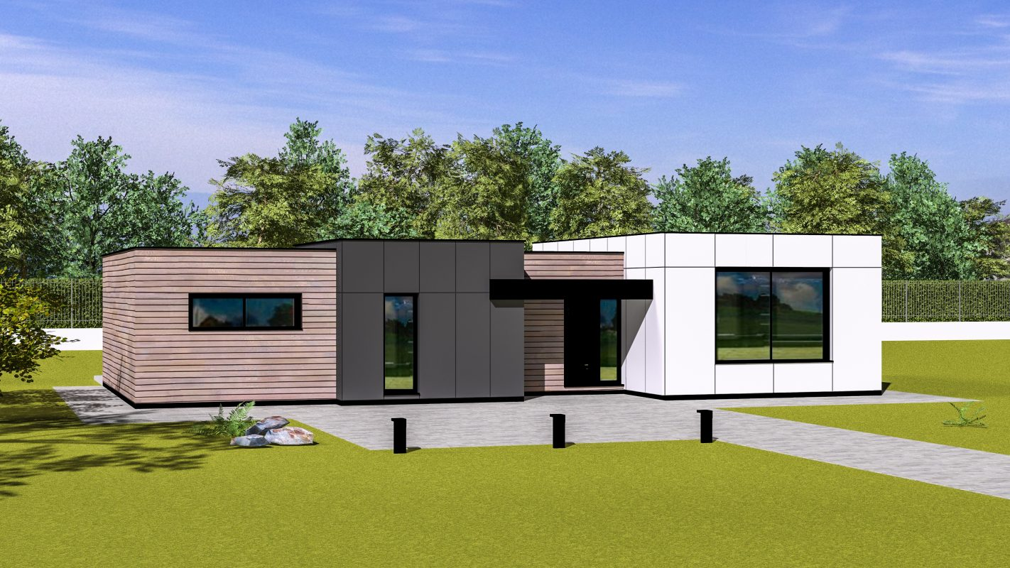 maison ossature bois moderne pas de calais