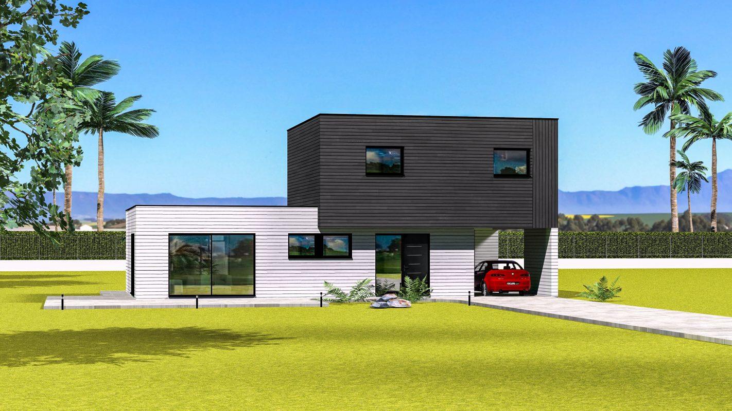 construction maison ossature bois moderne pas de calais