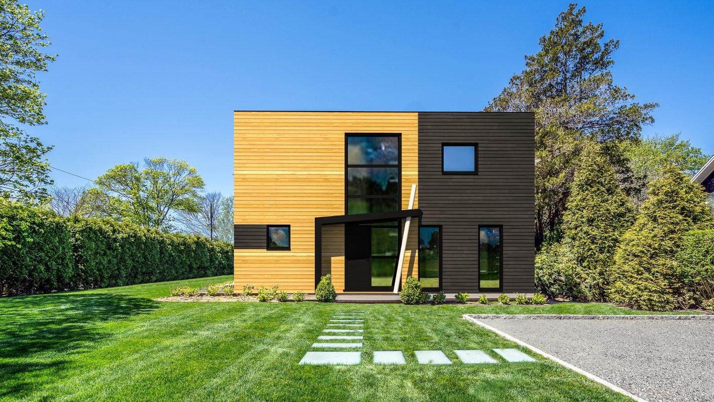 maison cubique moderne en ossature bois