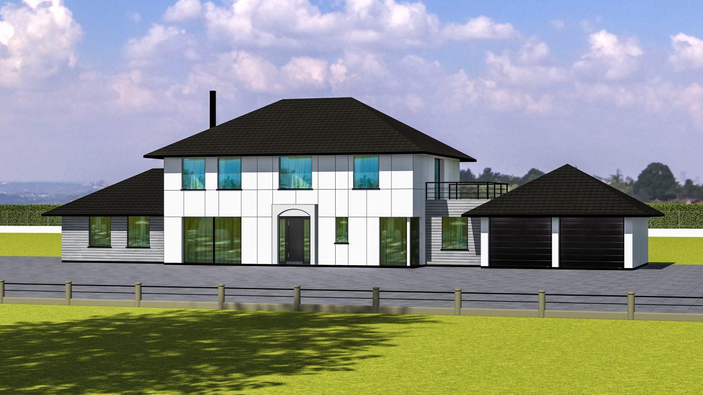maison ossature bois LONDRES vue devant
