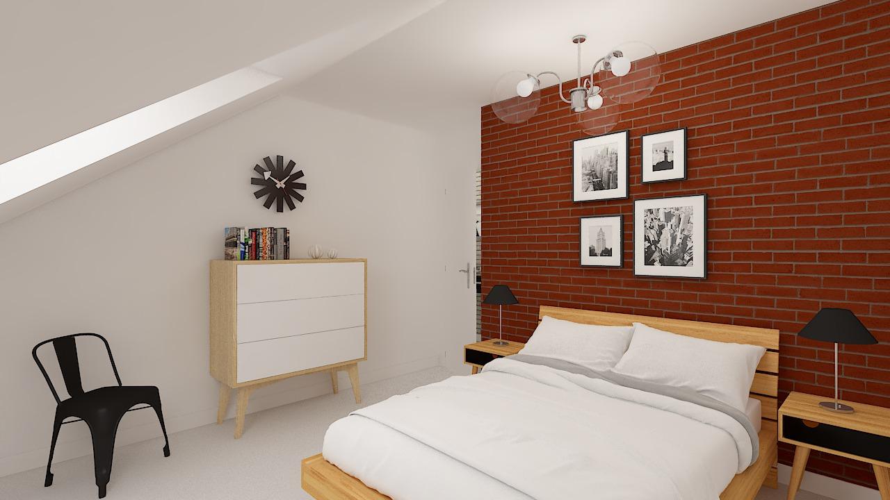 Maison ossature bois logicobois modèle Atlanta - Chambre 1