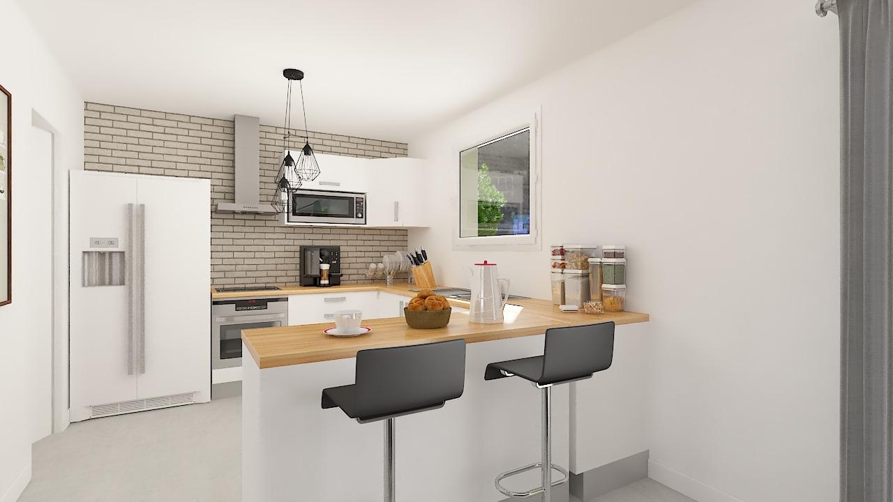 Maison ossature bois logicobois modèle Atlanta - Cuisine