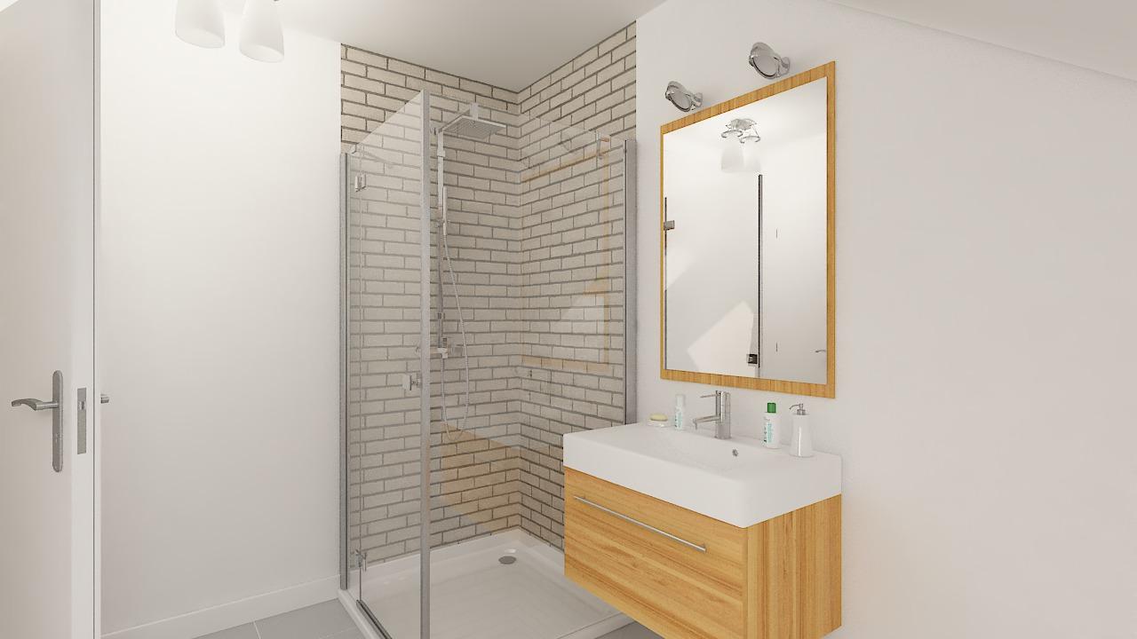 Maison ossature bois logicobois modèle Atlanta - Salle de bains