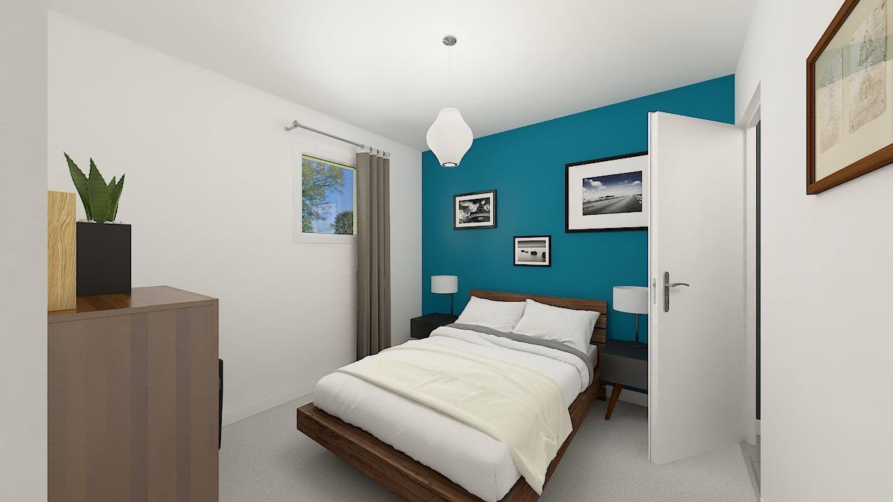 Maison ossature bois logicobois modèle Bruges - chambre1