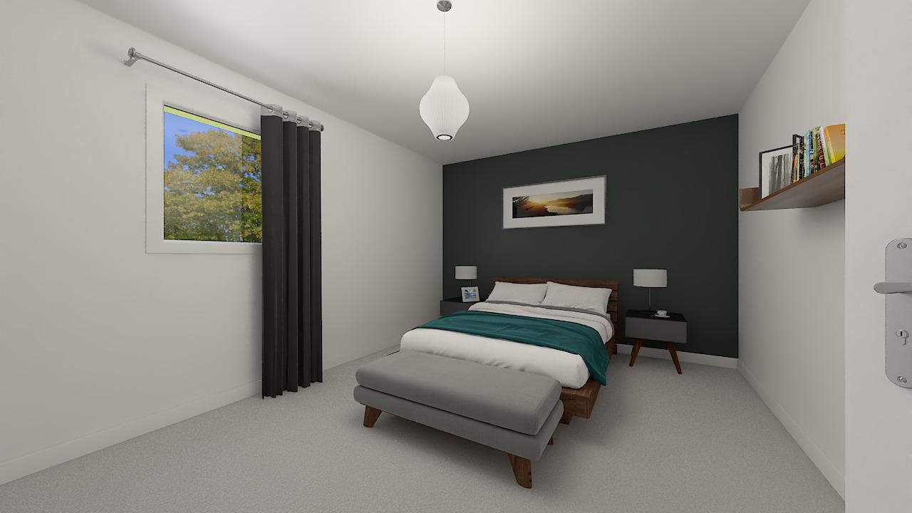 Maison ossature bois logicobois modèle Bruges -chambre2