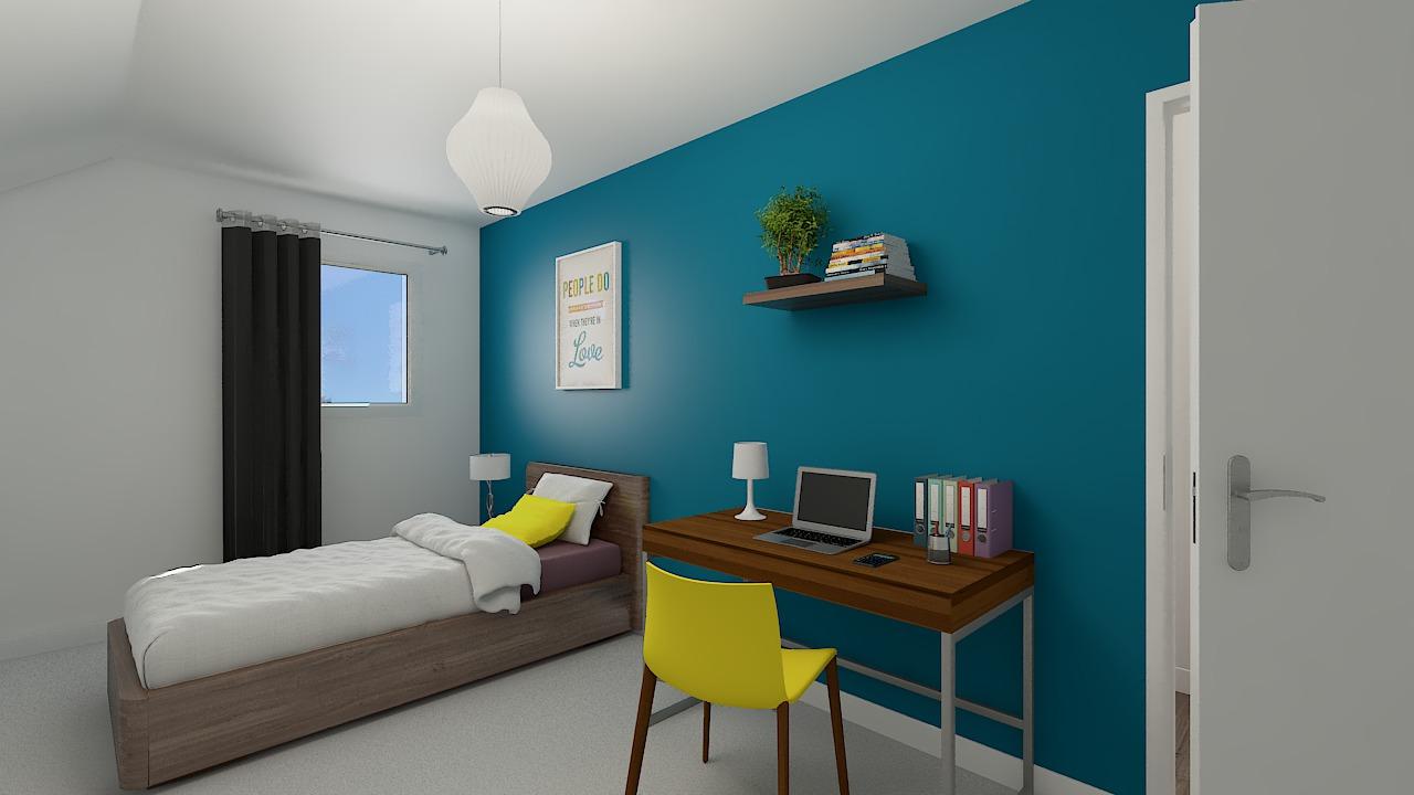 Maison ossature bois logicobois modèle Bruges -chambre3
