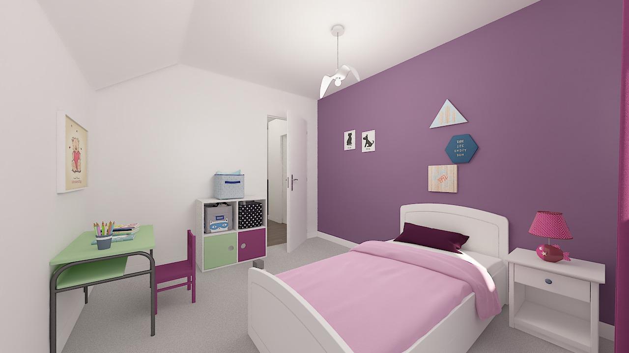Maison ossature bois logicobois modèle Bruges -chambre4