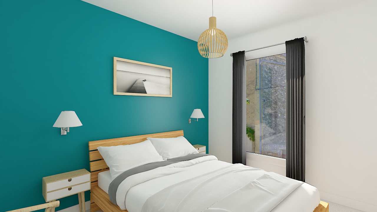Maison ossature bois logicobois modèle Copenhague - chambre 2