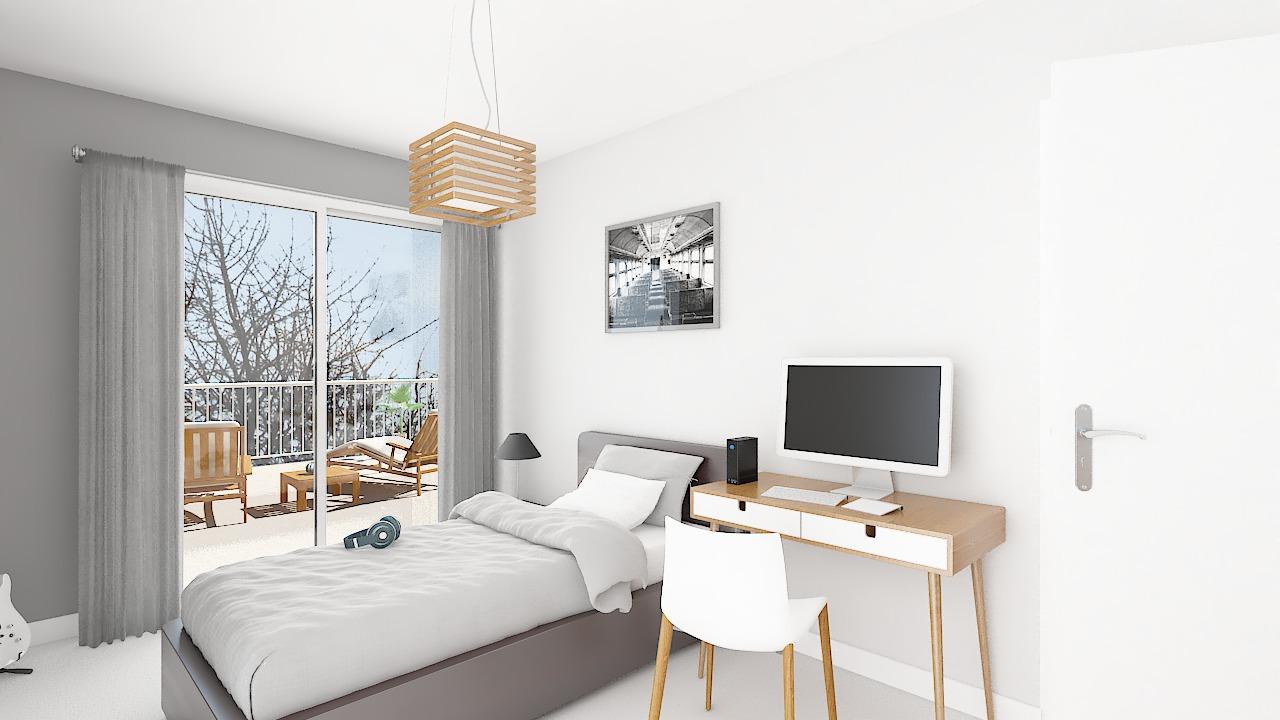 Maison ossature bois logicobois modèle Courchevel - chambre2