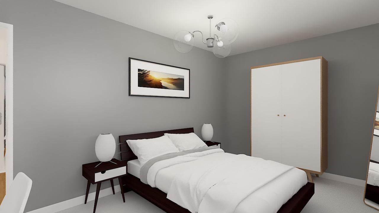 Maison ossature bois logicobois modèle Courchevel - chambre3