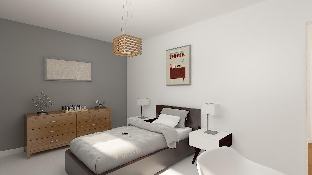 Maison ossature bois logicobois modèle Courchevel - chambre4