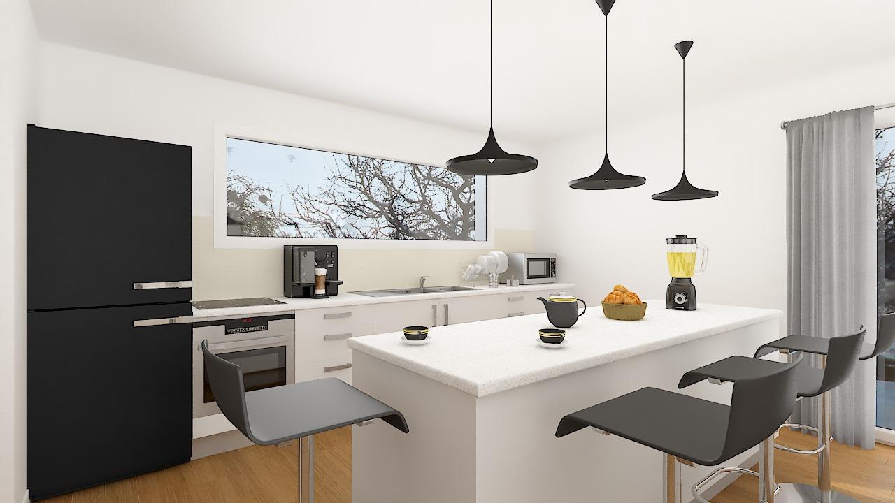 Maison ossature bois logicobois modèle Courchevel - cuisine