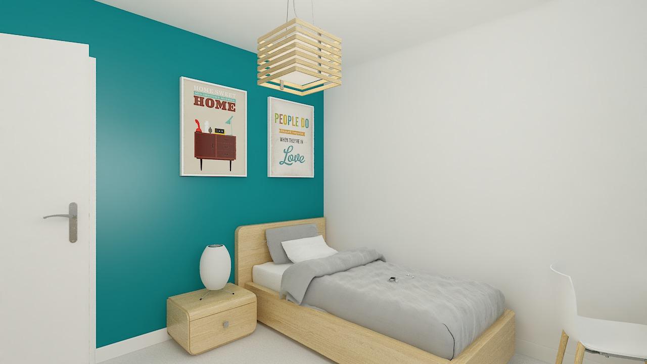 Maison ossature bois logicobois modèle Helsinki - chambre3