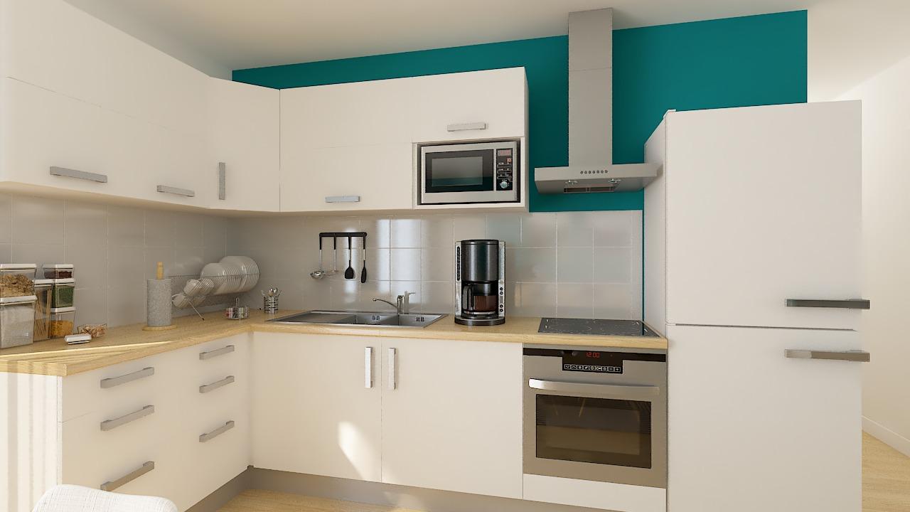 Maison ossature bois logicobois modèle Helsinki - cuisine