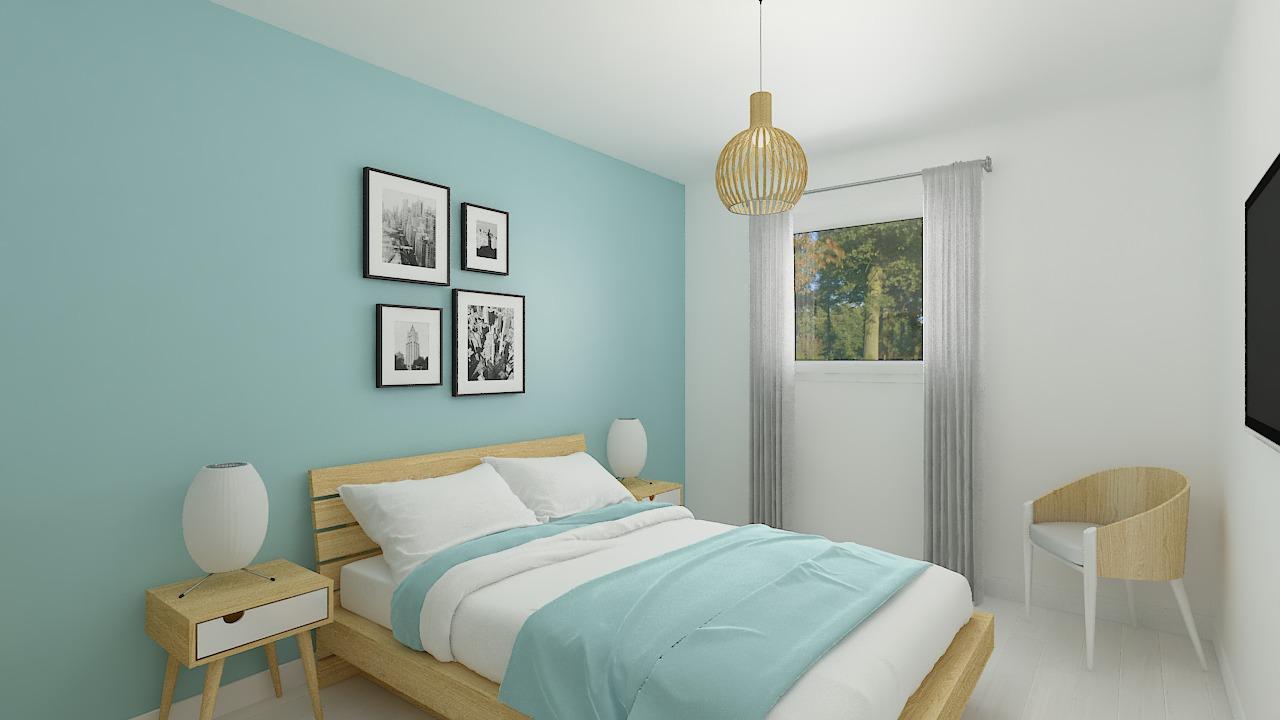 Maison ossature bois logicobois modèle Luxembourg - chambre1