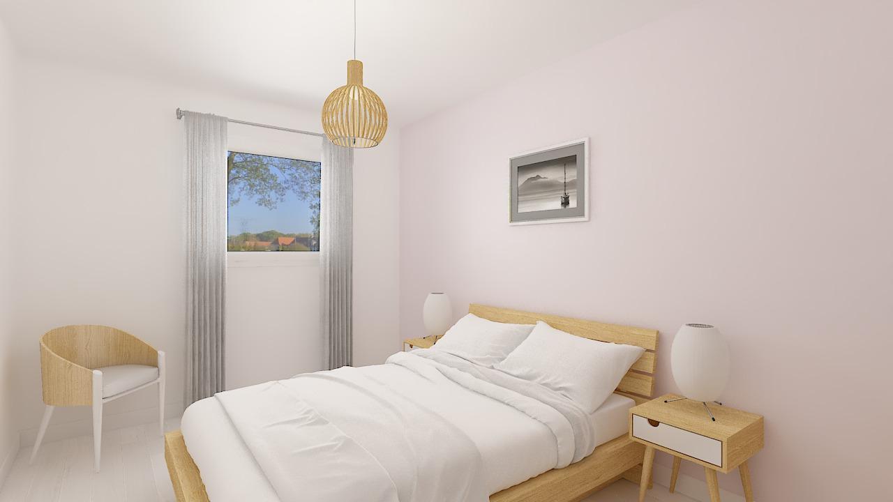 Maison ossature bois logicobois modèle Luxembourg - chambre2