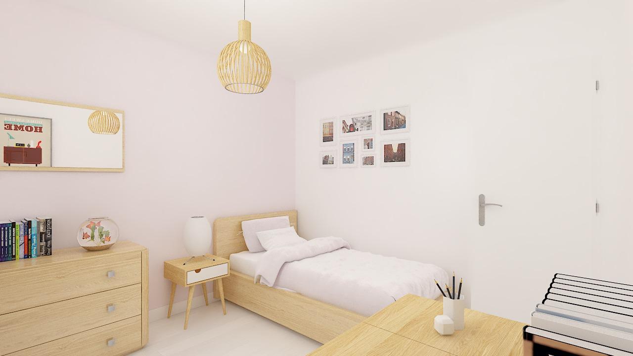 Maison ossature bois logicobois modèle Luxembourg - chambre3