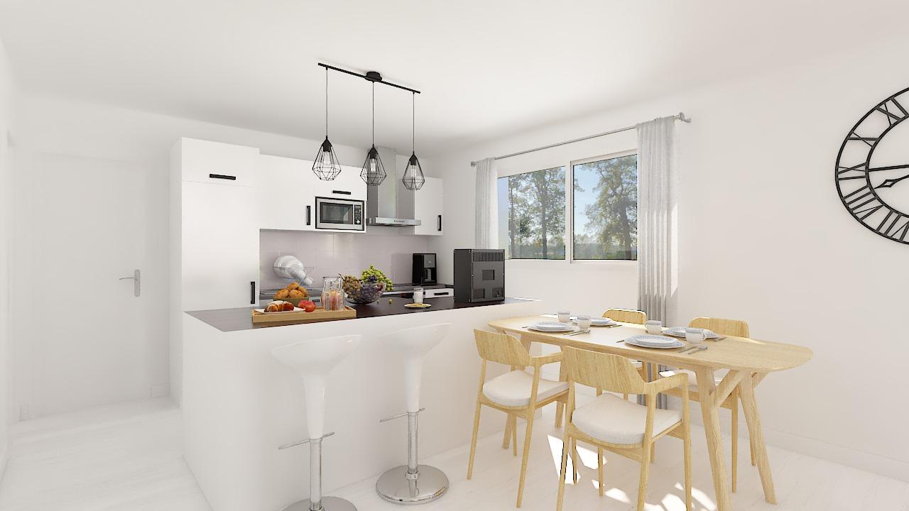 Maison ossature bois logicobois modèle Luxembourg - cuisine