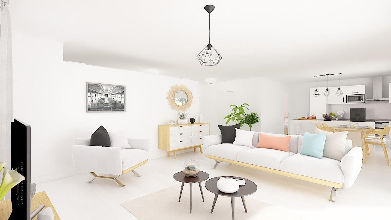 Maison ossature bois logicobois modèle Luxembourg - sejour