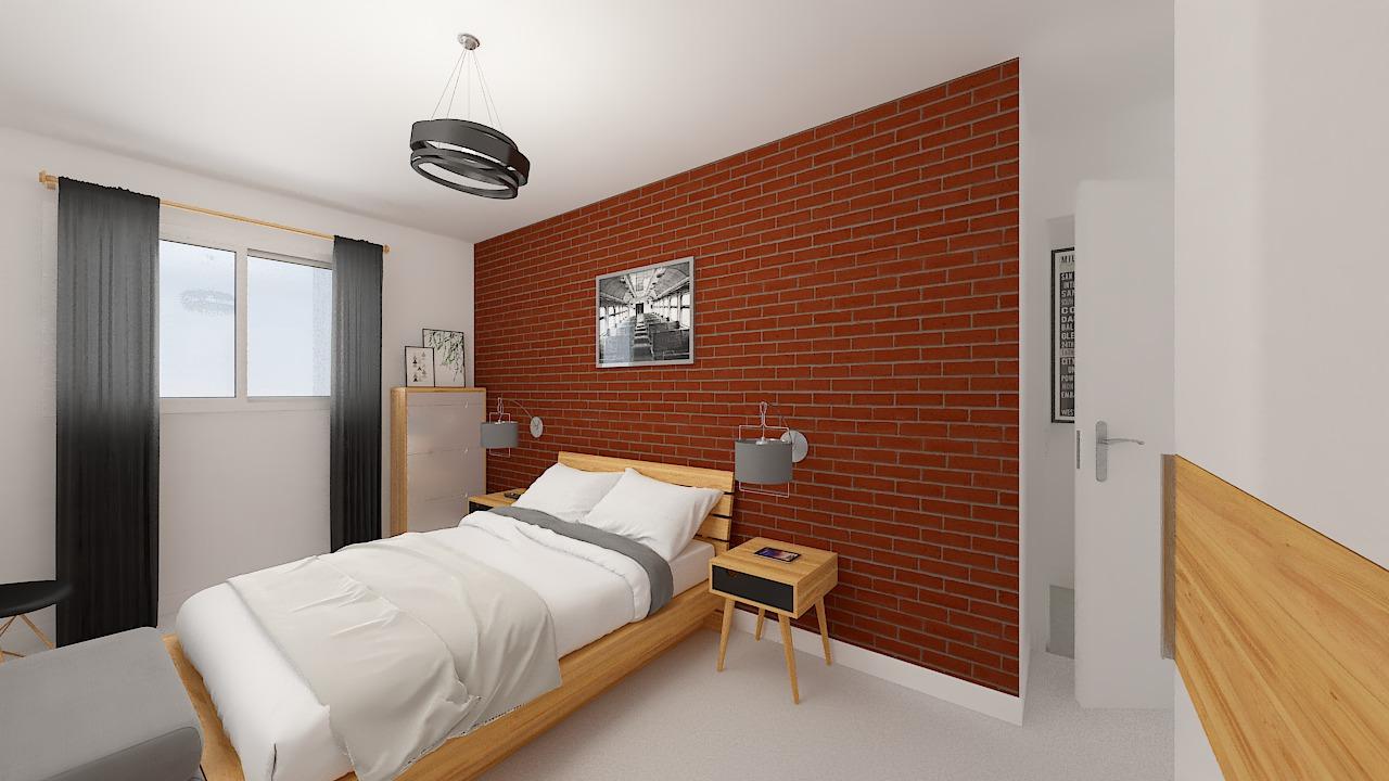 Maison ossature bois logicobois modèle Oran - chambre1