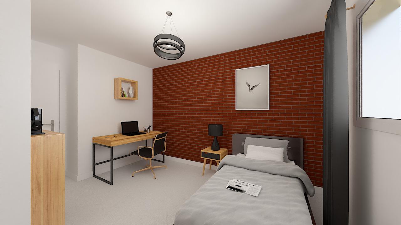 Maison ossature bois logicobois modèle Oran - chambre2
