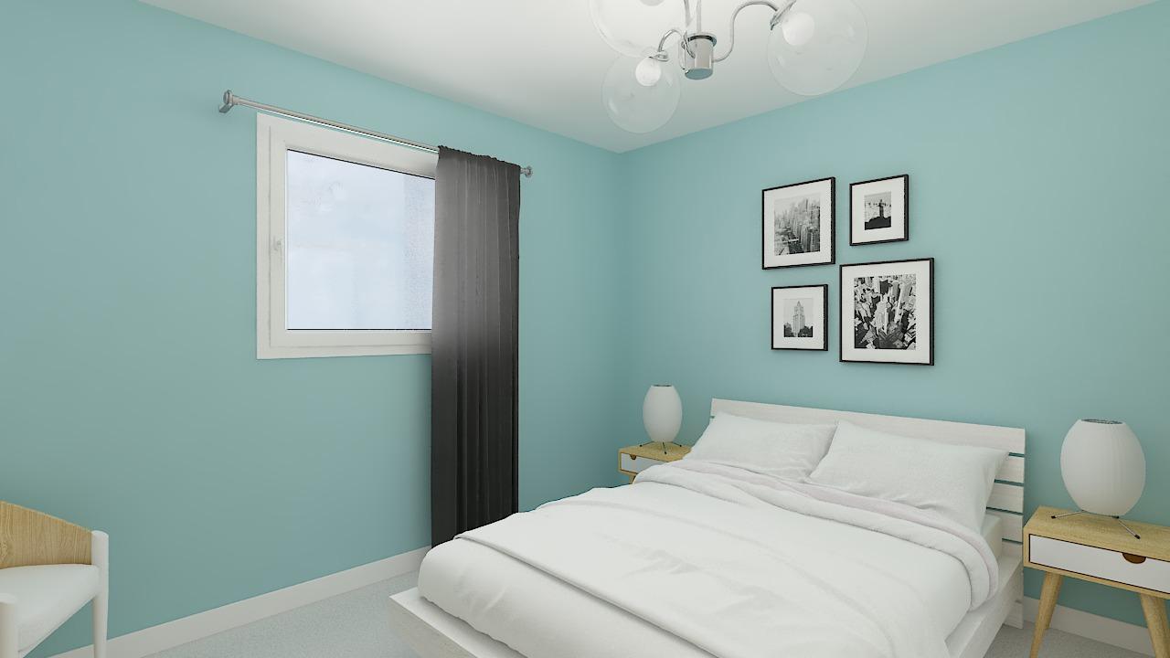Maison ossature bois logicobois modèle Ottawa - chambre1