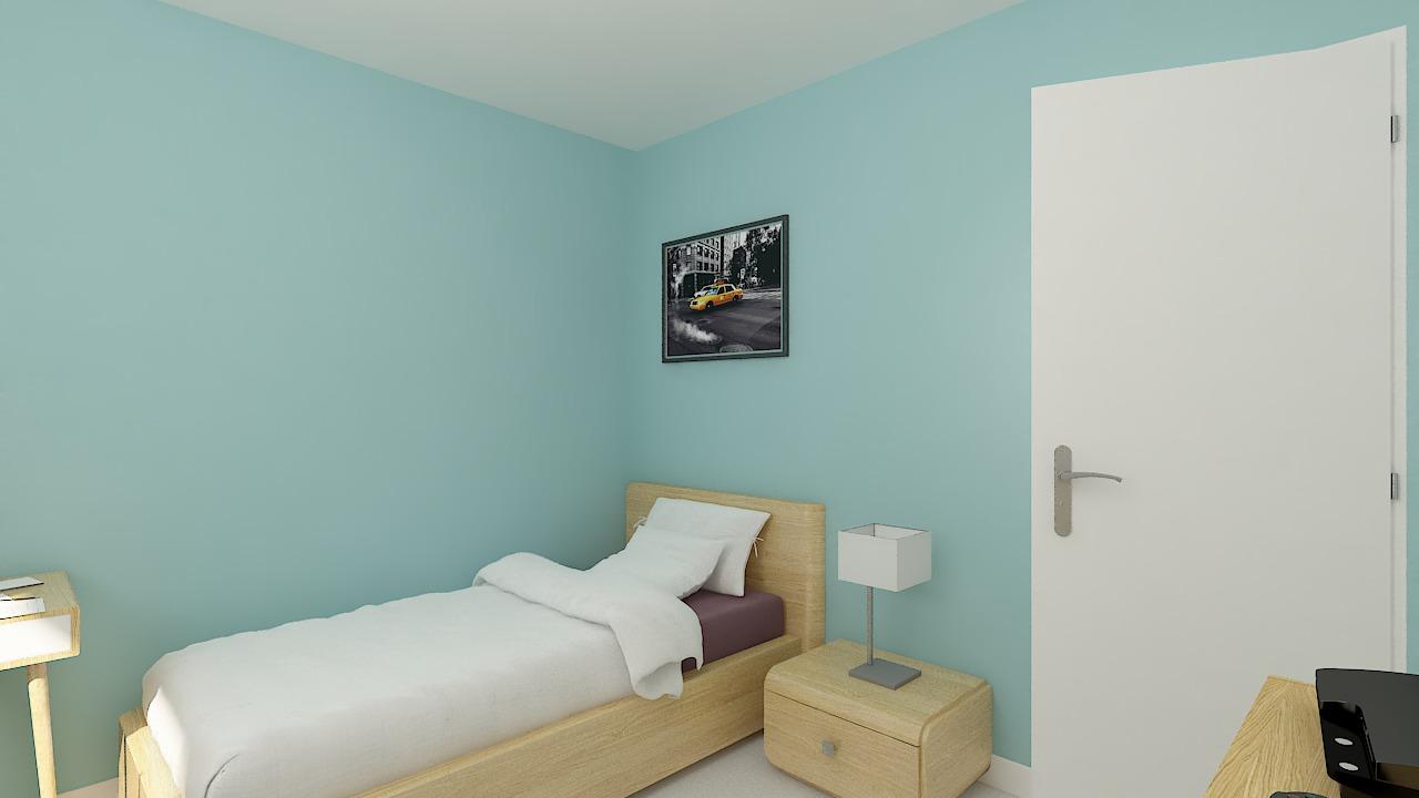 Maison ossature bois logicobois modèle Ottawa - chambre3