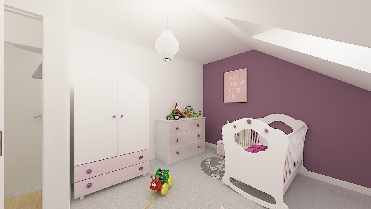 Maison ossature bois logicobois modèle Varna - chambre1
