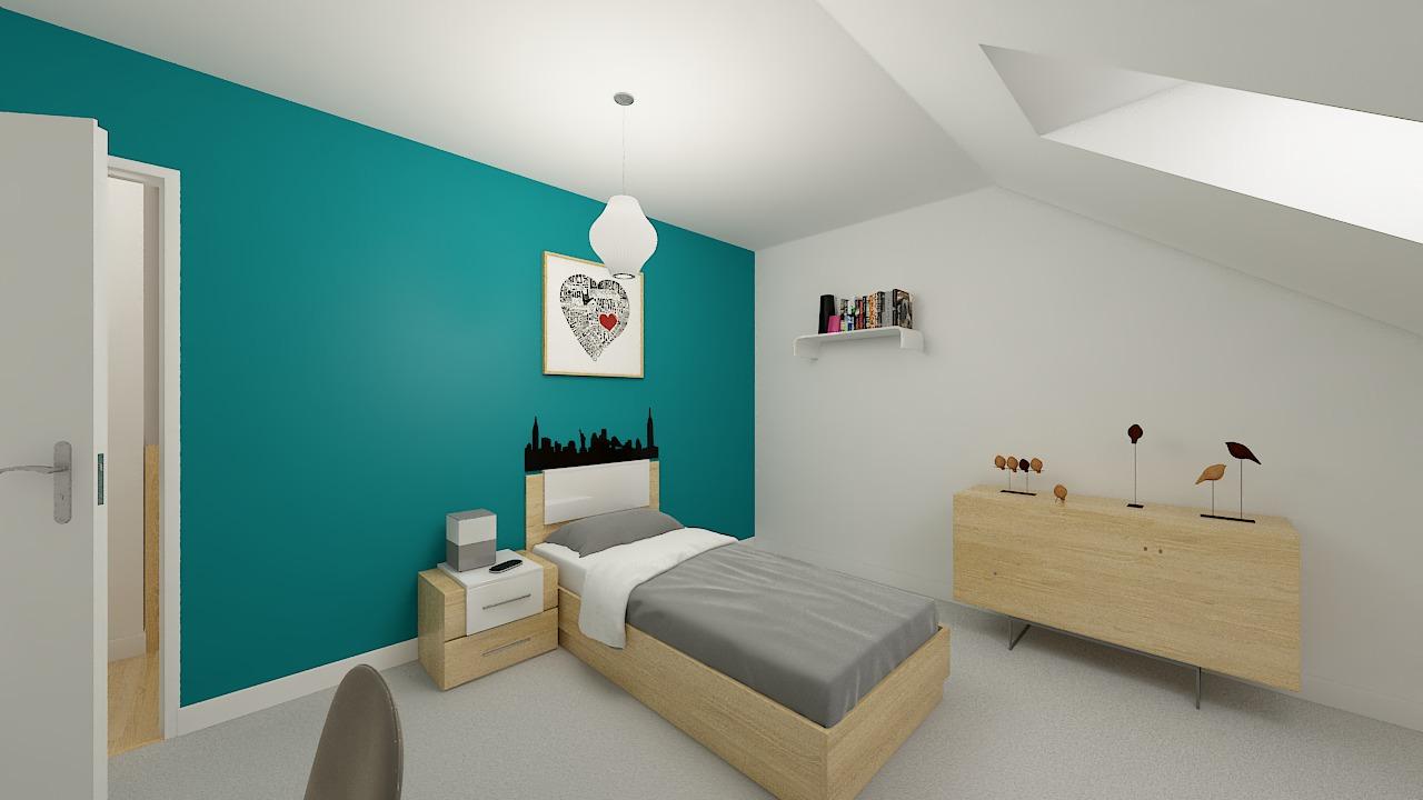 Maison ossature bois logicobois modèle Varna - chambre2