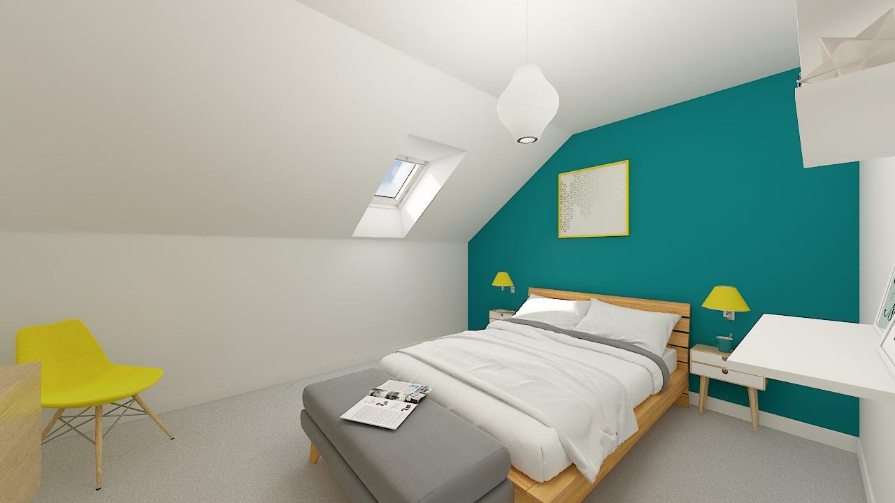 Maison ossature bois logicobois modèle Varna - chambre3