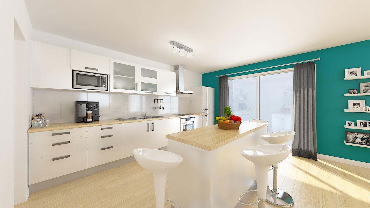 Maison ossature bois logicobois modèle Varna - cuisine