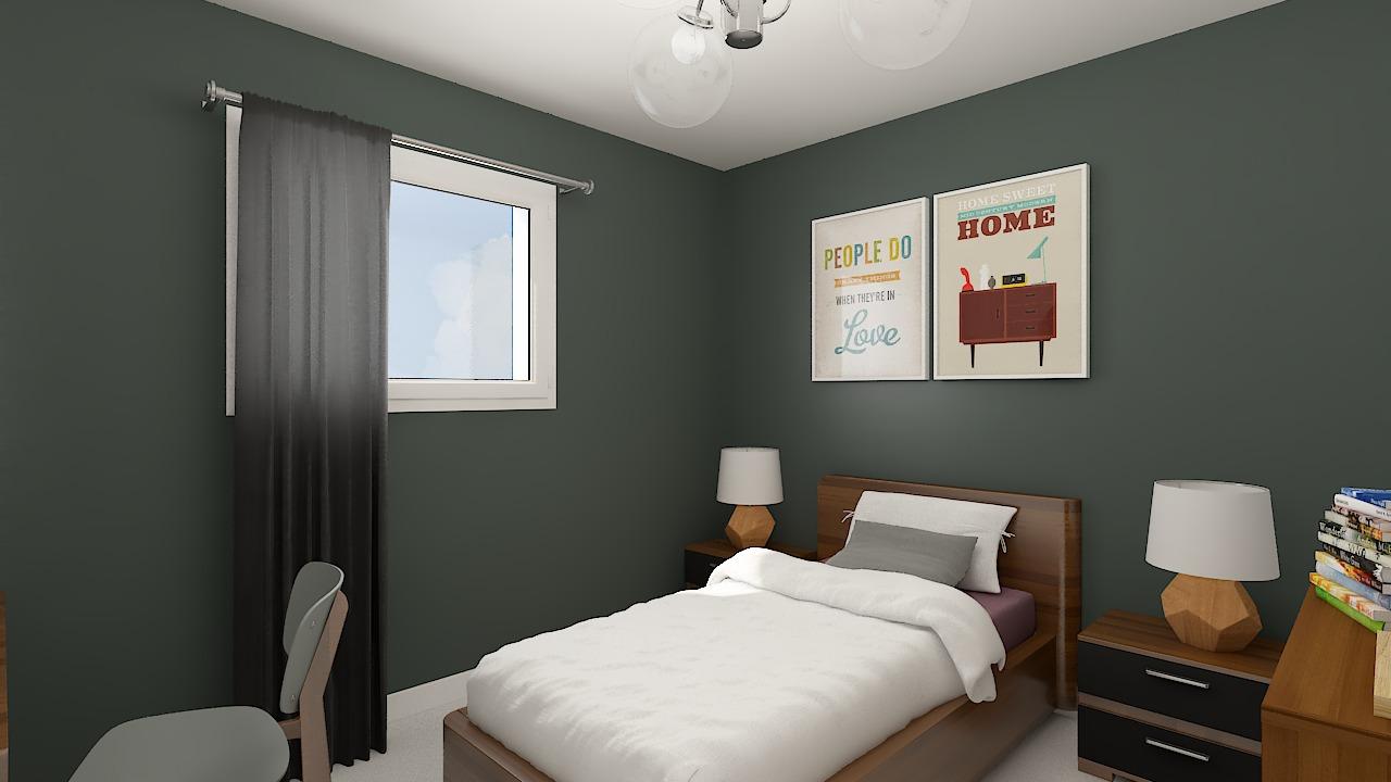 Maison ossature bois logicobois modele miami - chambre4