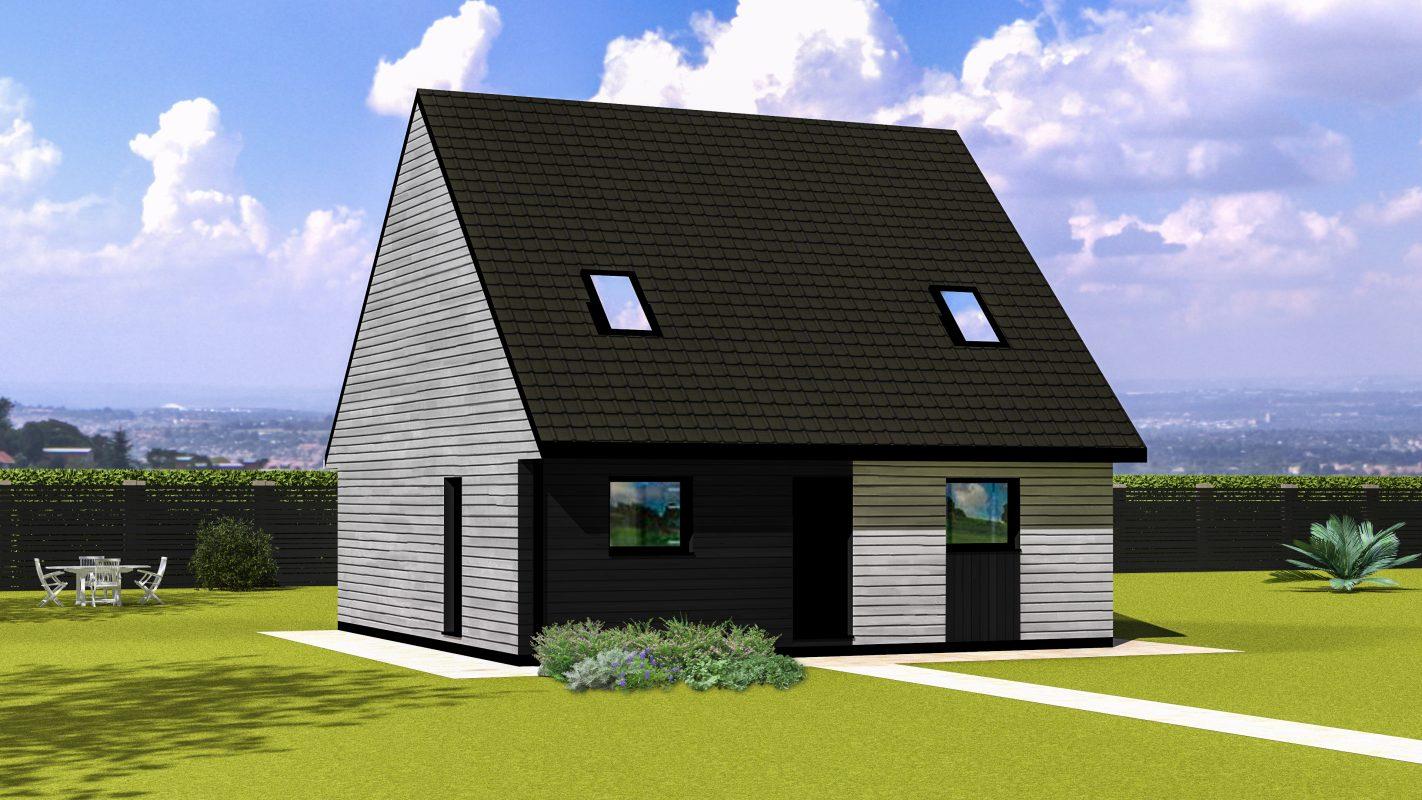 Maison ossature bois logicobois modele varna - vue devant