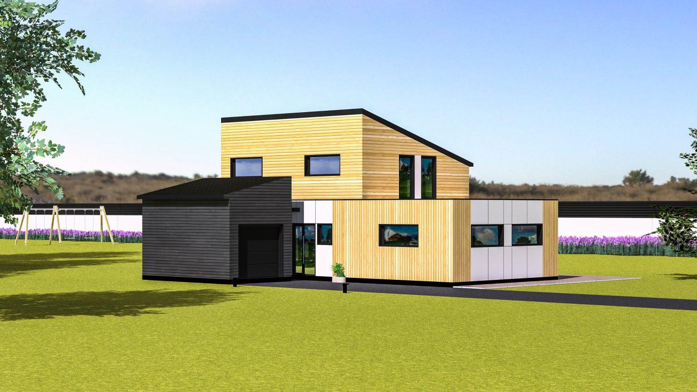 Maison ossature bois RIGA vue devant