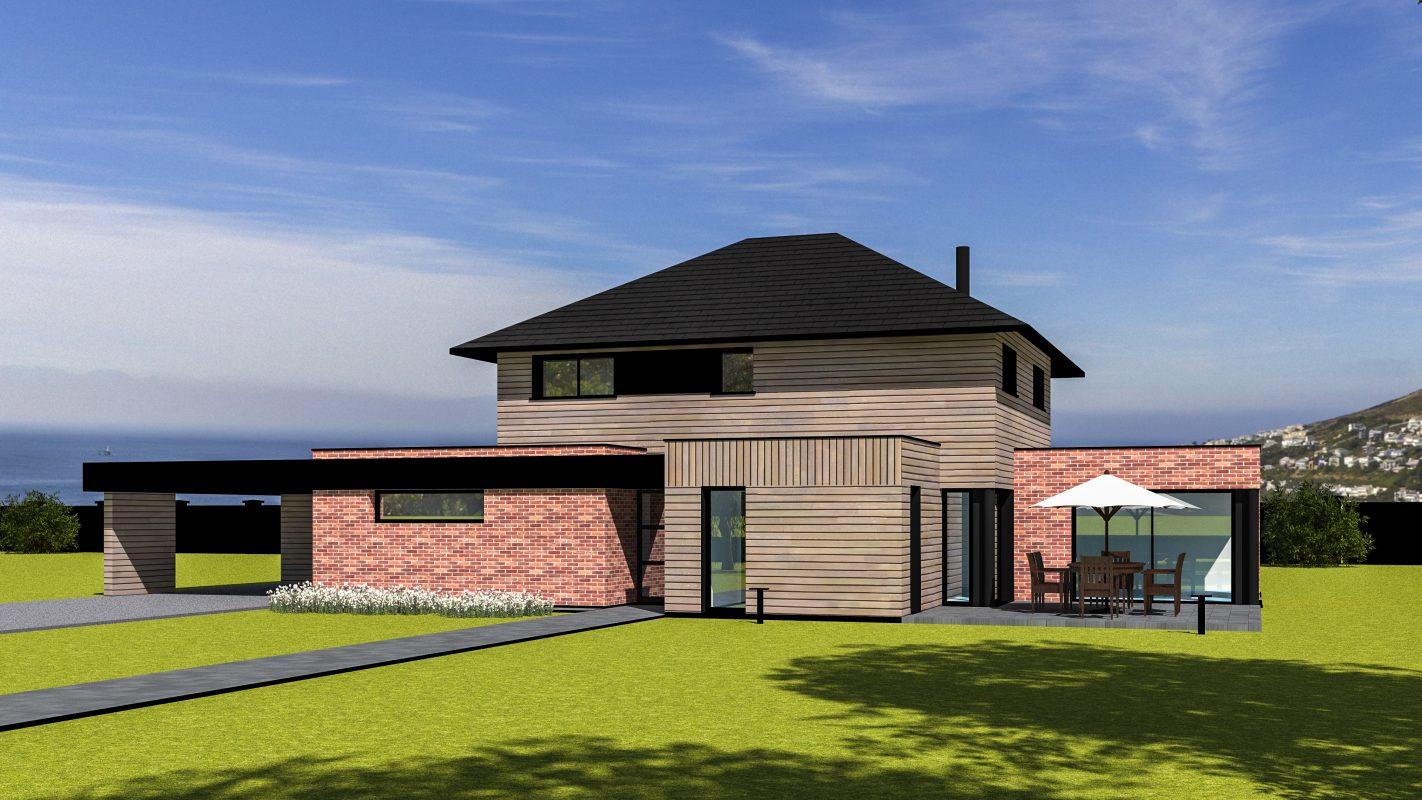 maison ossature bois SHANGAI vue devant