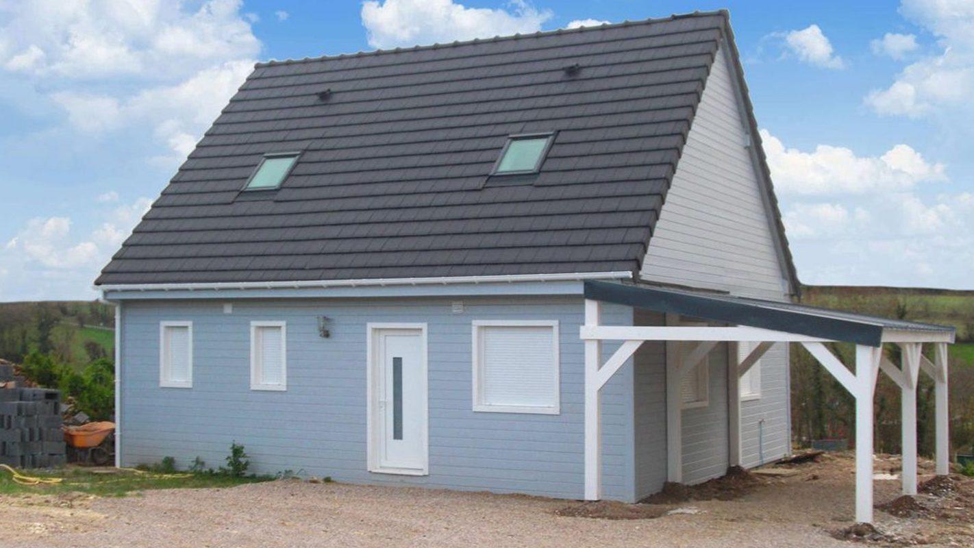 Construction maison ossature bois bardage