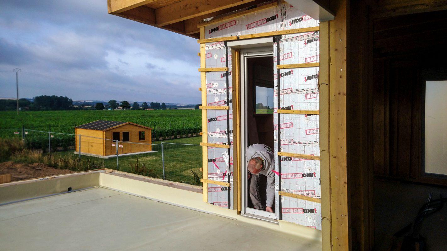 montage fenetre maison ossature bois