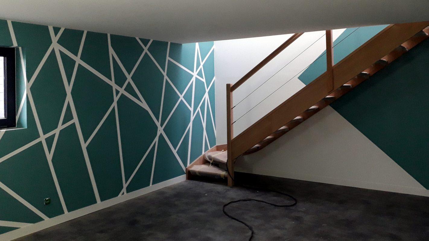 interieur extension ossature bois moderne