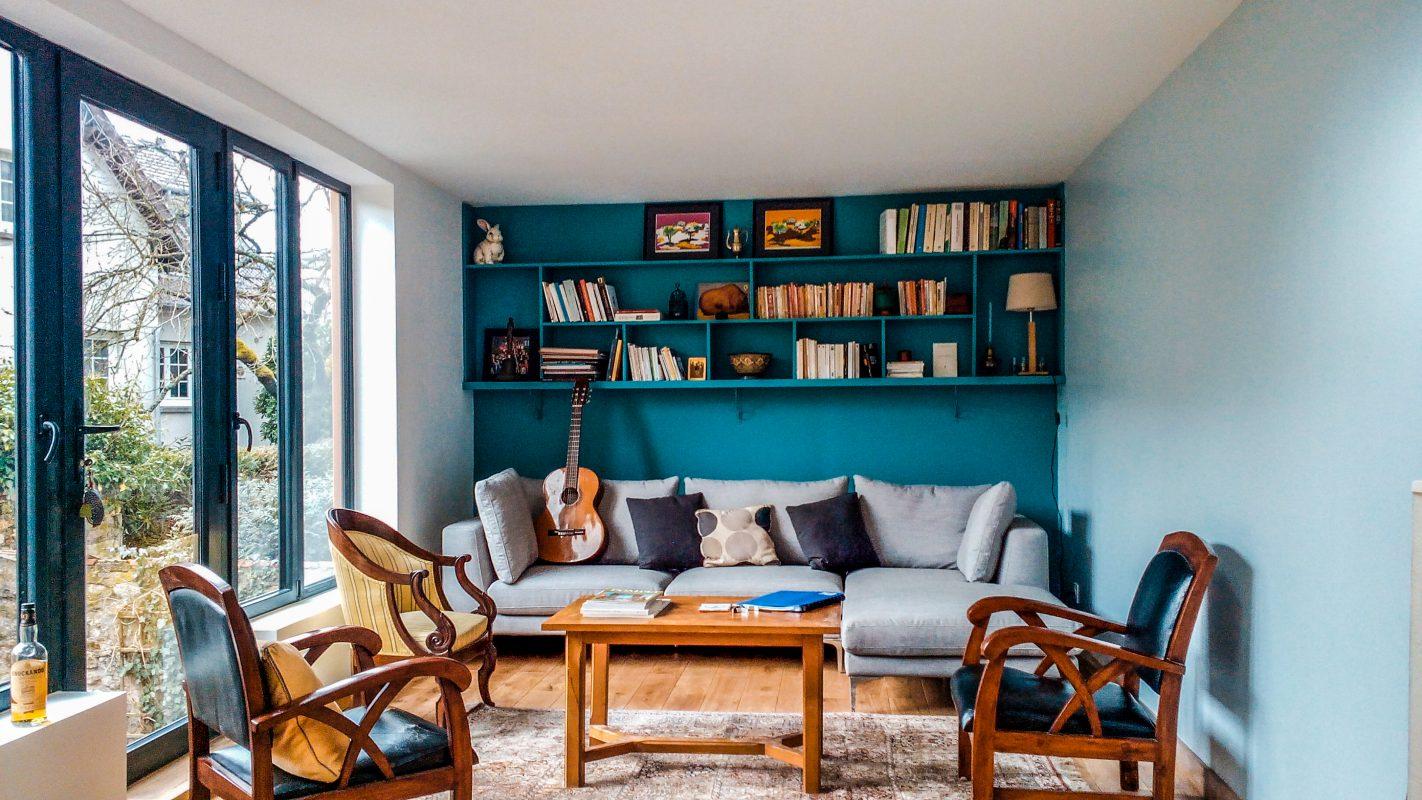 interieur extension ossature bois
