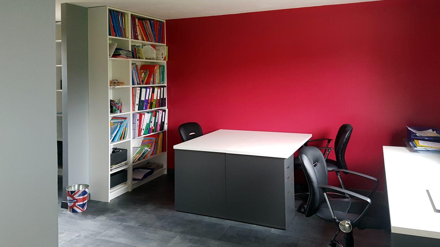 interieur extensionossature bois bureau