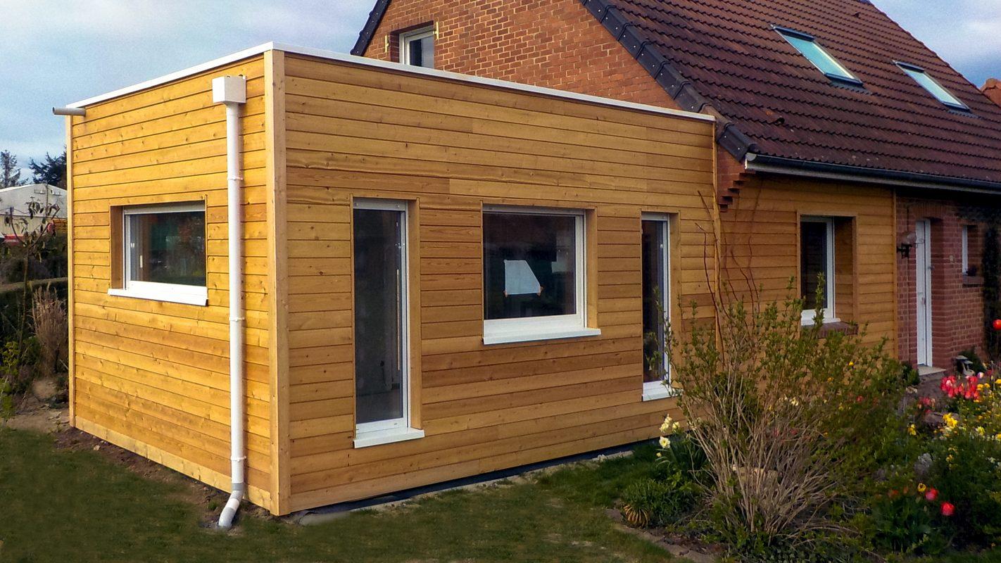 logicobois - construction extension ossature bois