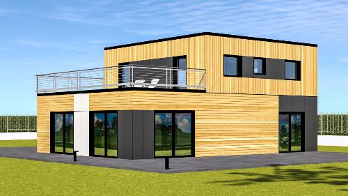 maison-contemporaine-ossature-bois
