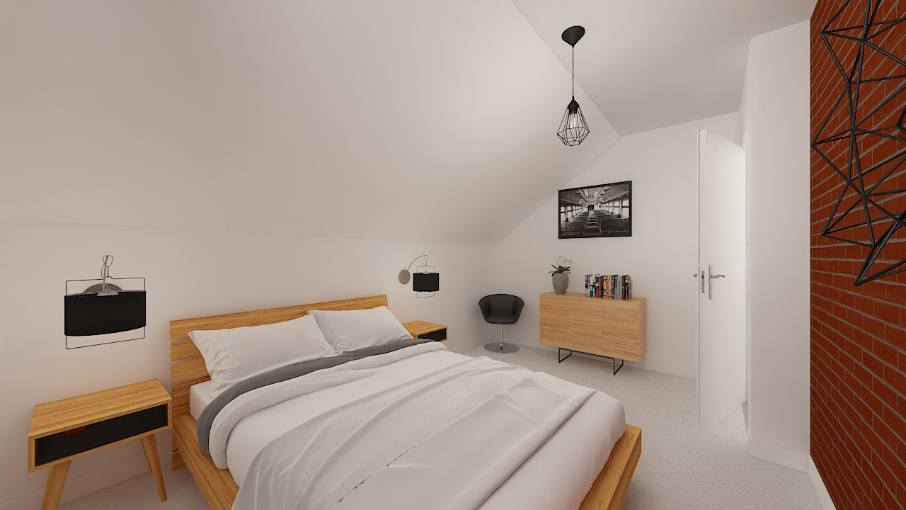 maison ossature bois logicobois modele Amsterdam - chambre1