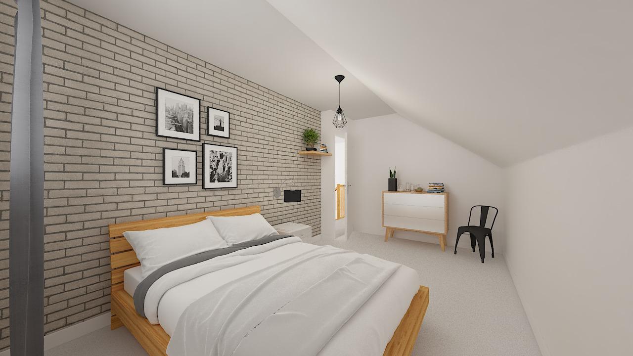 maison ossature bois logicobois modele Amsterdam - chambre2